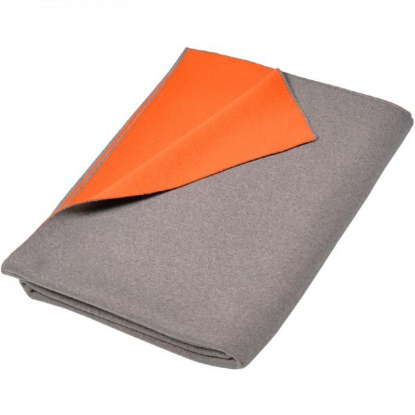 Merino Decke Doubleface beige / orange