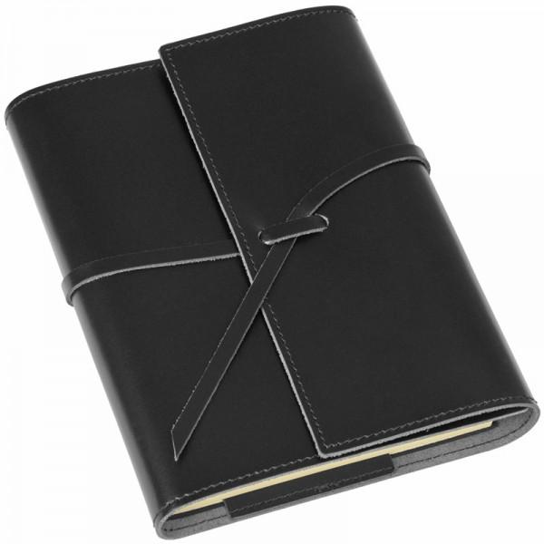 Notizbuch Romano Leder schwarz pinetti