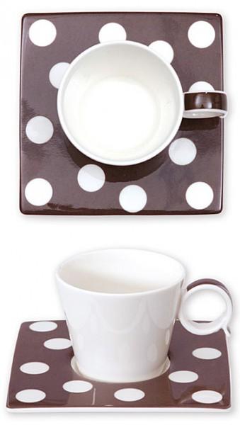 Espresso-Tasse Punkte braun