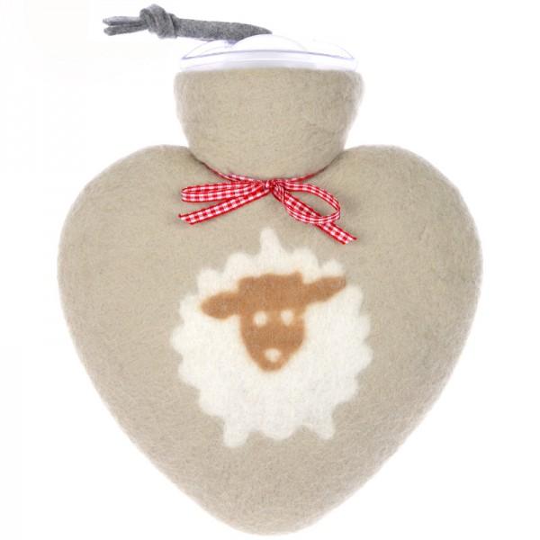 Herzwärmflasche Schafmotiv beige dorothee lehnen