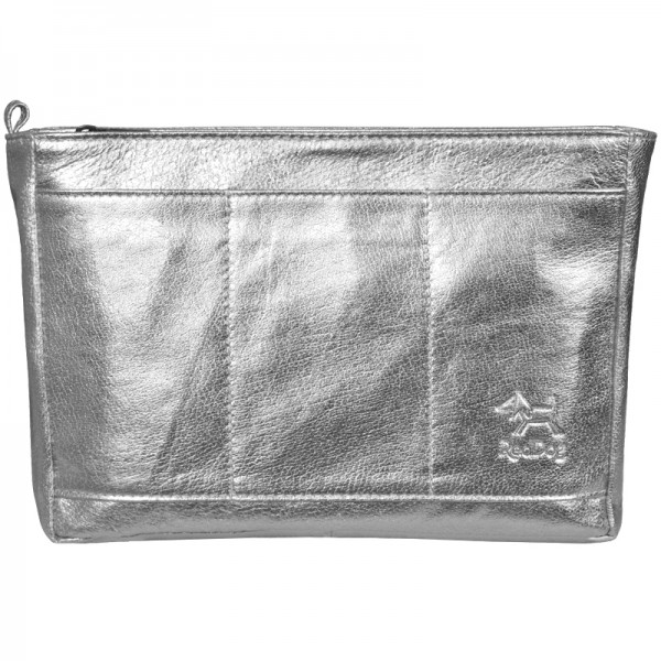 Handtaschen Organizer Leder silber RedDog Design