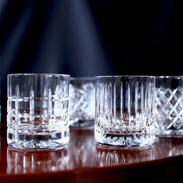 handgeschliffene whiskygl ser im set a 6 st ck. Black Bedroom Furniture Sets. Home Design Ideas