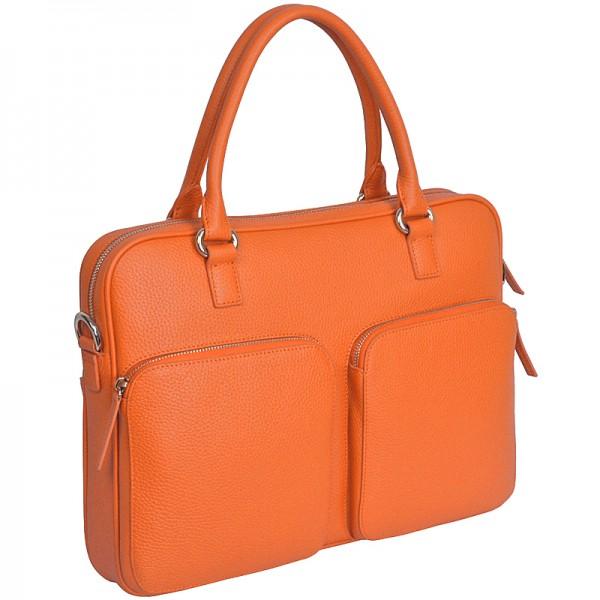 Laptoptasche Leder orange Chi Chi Fan