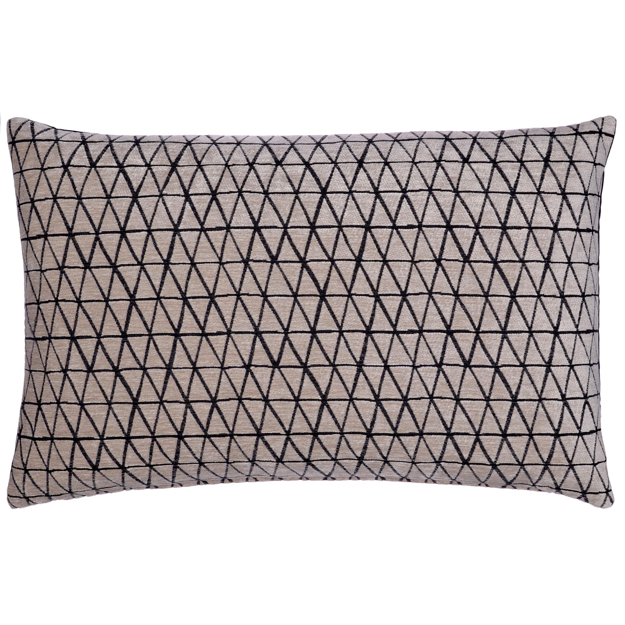 sofakissen 40 x 60 cm mit dauneninlett schwarz creme. Black Bedroom Furniture Sets. Home Design Ideas