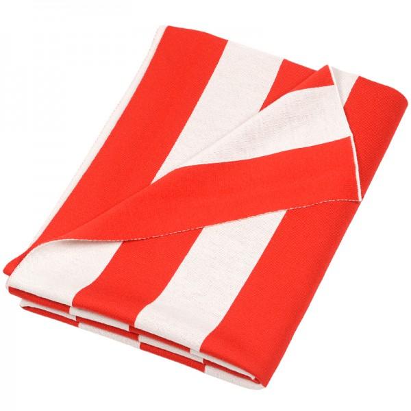 Merino Decke Strips rot Lenz Leif