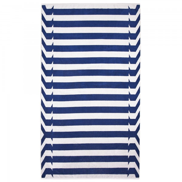 Strandtuch Nautical Stripes blau elaiva