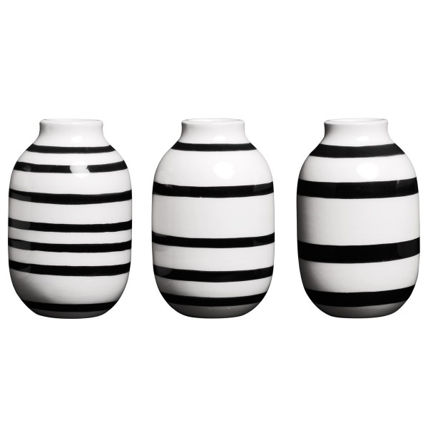 Omaggio Vasen mini schwarz Kähler design