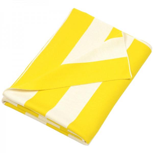 Merino Decke Stripes gelb Lenz Leif