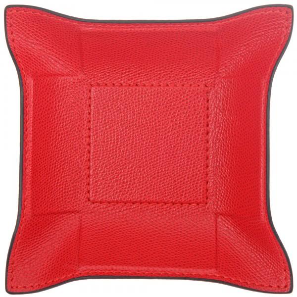 Taschenleerer Leder quadratisch rot giobagnara