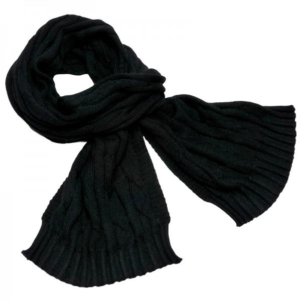 Alpaka Schal Cable schwarz