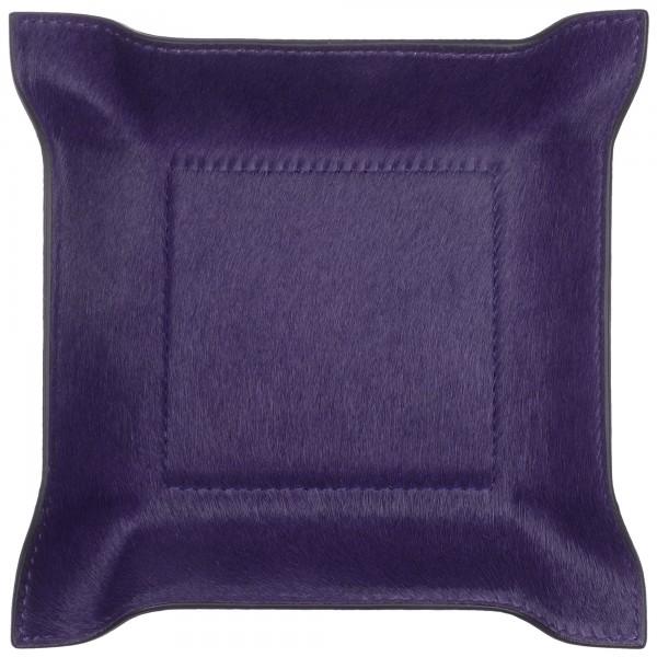 Taschenleerer quadratisch Fellleder lila giobagnara
