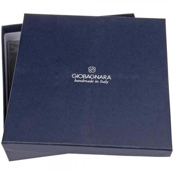 geschenkbox Taschenleerer quadratisch Fellleder grün giobagnara