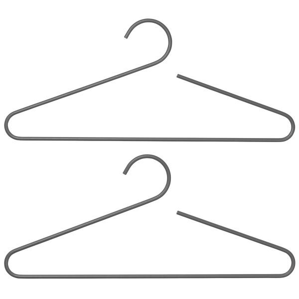 Blomus Garderobenbügel Curl steel gray Set a 2