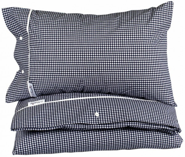 Kinderbettwäsche Boston Gingham blau