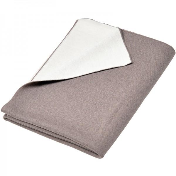 Merino Decke Doubleface beige/weiß Lenz & Leif