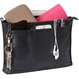 Handtaschen Organizer Leder schwarz
