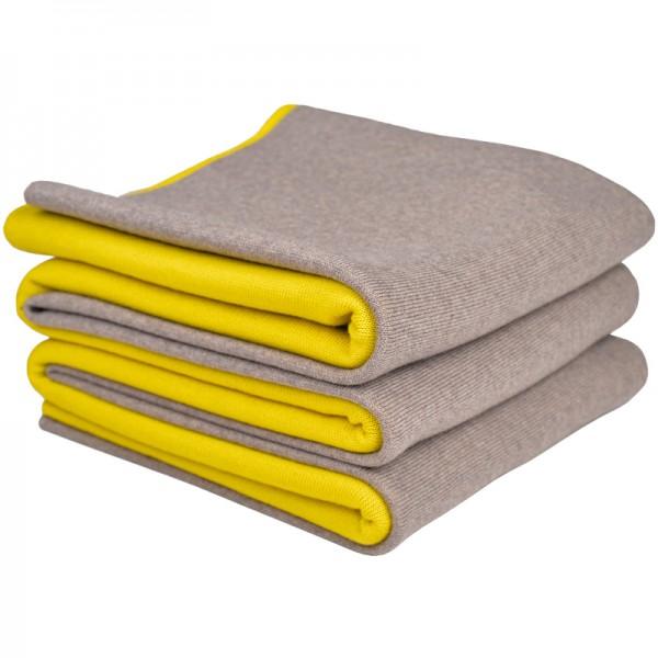 merino decke doubleface beige gelb merino decken. Black Bedroom Furniture Sets. Home Design Ideas