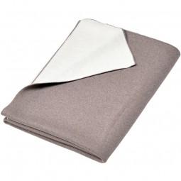 Merino Decke Doubleface beige / weiss