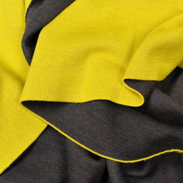 merino decke doubleface gelb braun merino decken. Black Bedroom Furniture Sets. Home Design Ideas