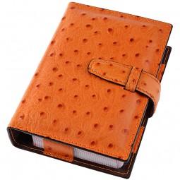 Spielkarten Etui Leder orange