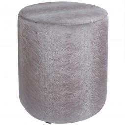 Pouf silber / grau